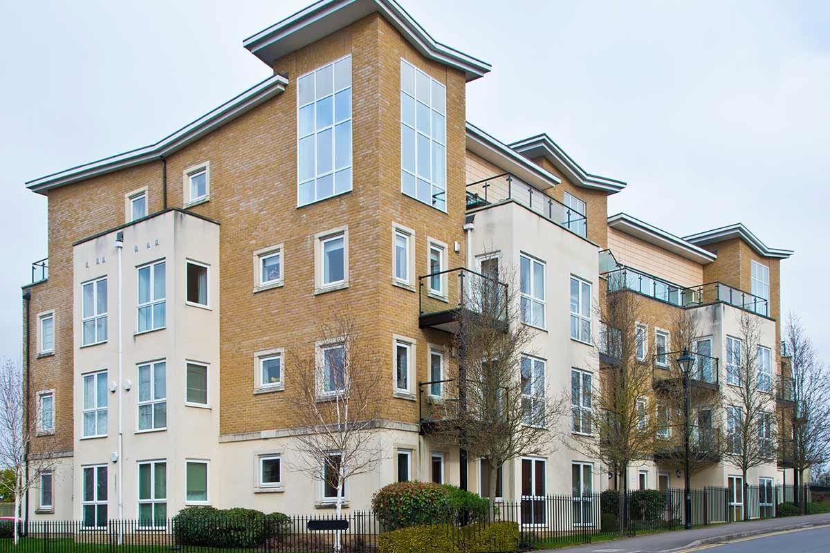 new build homes apartment block in the UK