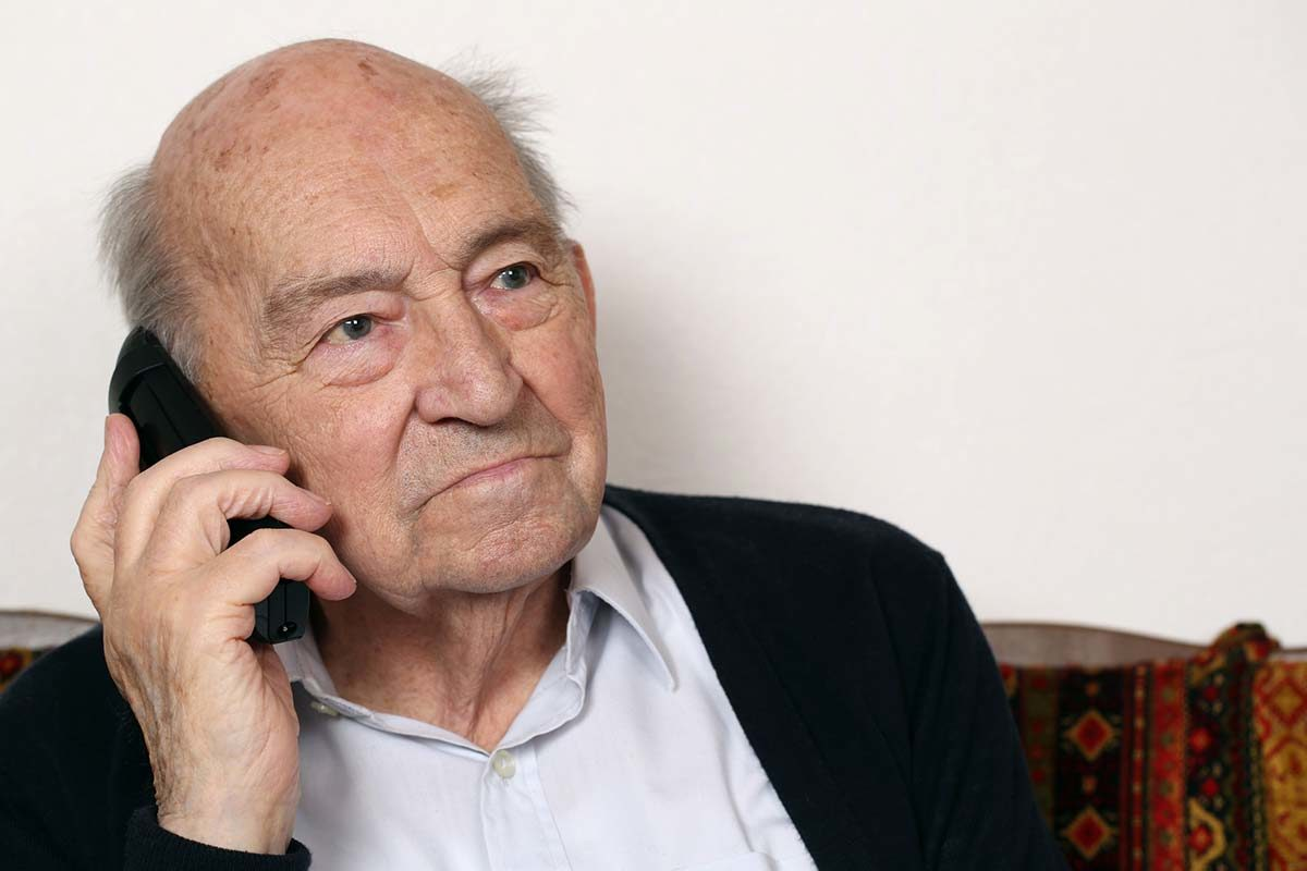 old man on the telephone