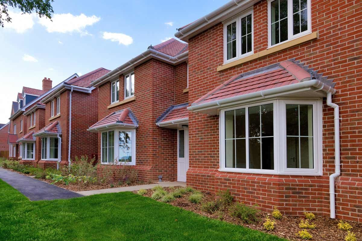 row of new build homes in Kent UK